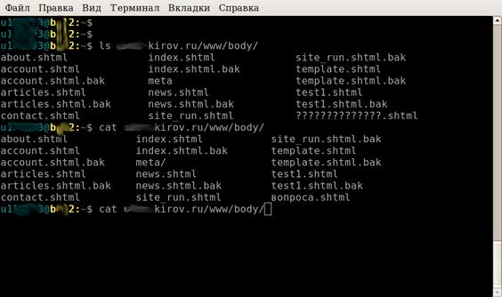 Как удалить на хостиге файл имя которого не набрать в консоли