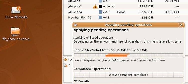 Установка Ubuntu 8.04.2 Desktop на LVM